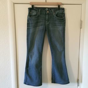 7 For All Mankind Flare Jeans 'A' Pocket Size 29